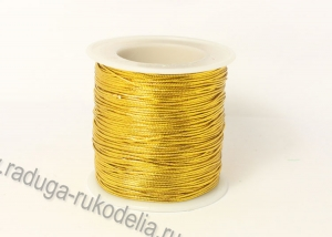 Шнур декоративный золото, толщина 1 мм