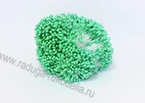 Тычинки гладкие, 3 мм, светло-зеленые 1 пучок (100 нитей +- 2)