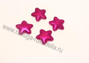 Патч звезда ярко-розовая 23 мм