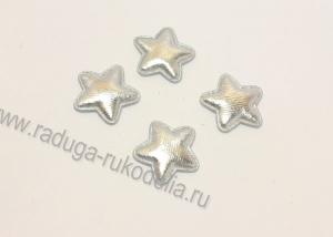 Патч звезда серебро 23 мм