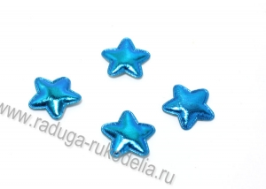 Патч звезда голубая 23 мм