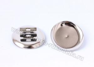 Основа для резинки (металл) цвет серебро, 30 мм
