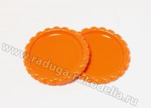 Крышки под эпоксидку. Оранжевые