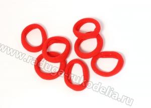 Резинка бесшовная 3 см, красные