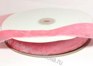 Лента бархатная розовая, 20 мм