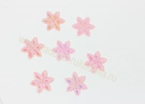 """Кабошон """"Цветочек перламутровый"""", розовый, 24 мм"""