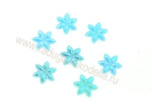 """Кабошон """"Цветочек перламутровый"""", голубой, 24 мм"""