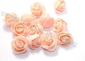 Розочки из фоамирана. Персиковые.