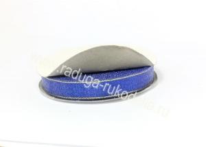 Парча синяя с люрексом 12 мм
