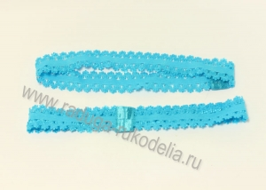 Повязка эластичная ажурная 1,5 х 19 см, голубая