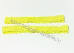 Повязка эластичная ажурная 1,5 х 19 см, желтая