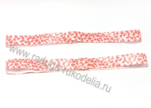 Повязка эластичная 1,5 х 19 см, пятна розовые на белом
