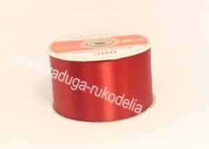Атласная лента 5 см, бордовая В-064