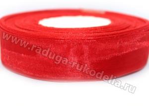 Органза Красная, 25 мм