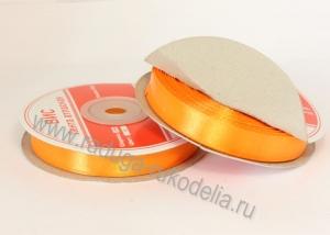Лента атласная, 12 мм. Оранжевая В-054