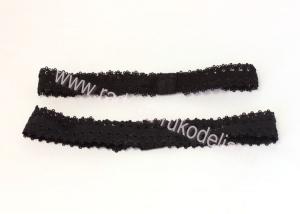 Повязка кружевная черная