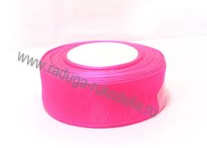 Органза темно-розовая, 5 см