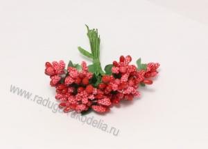 Букетик тычинок (12 шт). Красные