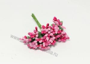 Букетик тычинок (12 шт). Ярко-розовые