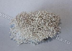 Тычинки гладкие, белые Молочные. 3 мм