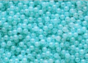 Бусины акриловые под жемчуг, голубые, 10 гр