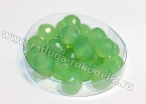 Бусины стеклянные 8 мм. Зеленые мутные