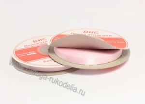 Лента атласная, 6 мм. розовая В-033 (боб. 27м)