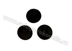 Фетровые кружочки (цвет черный), 30 мм, уп ок.50 шт