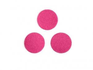 Фетровые кружочки (цвет фуксия) 2,5см