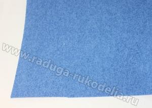 Фоамиран махровый, 2 мм, 20х30 см синий