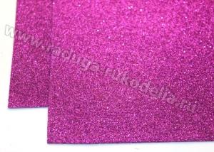 Фоамиран глиттерный, фиолетовый. 20х30 см
