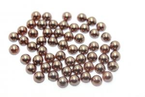 Полубусины коричневые, 5 мм ,упаковка(около 100 штук)