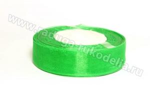 Органза Зеленая, 25 мм