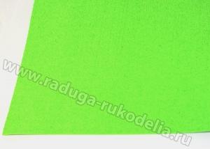 Фоамиран махровый, 2 мм, 20х30 см Светло-зеленый
