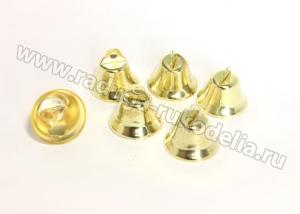 Колокольчики, золото, 26 мм