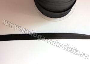Косая бейка, 13 мм. Черная