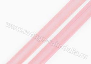 Косая бейка. Розовая. 15 мм