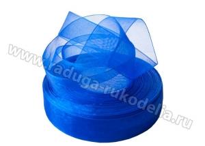 Органза Синяя, 25 мм