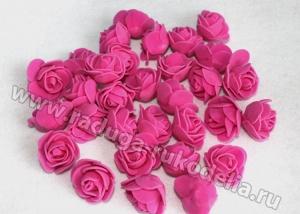 Розы из фоамирана. Фуксия.