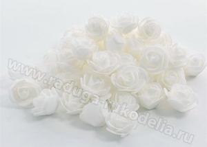 Розочки из фоамирана. Белые.