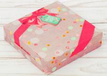 Коробка складная Маленький повод для радости, 14 × 14 × 3.5 см