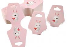 Держатели для резинок Зайка розовый, 43х105 мм