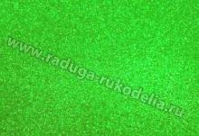 Фоамиран глиттерный светло-зеленый
