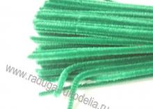 Проволока синельная зеленая, 30 см