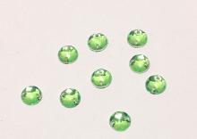 Полубусина пришивная зеленая. 8 мм