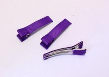 Зажим металл+ткань, 5 см, Фиолетовый
