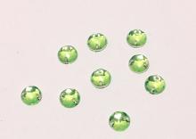 Полубусина пришивная светло-зеленая. 10 мм