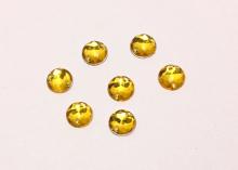 Полубусина пришивная золотая. 8 мм