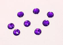Полубусина пришивная фиолетовая, 10 мм