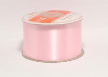 Атласная лента 5 см, розовая-037